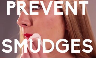 preventing lipstick smudges