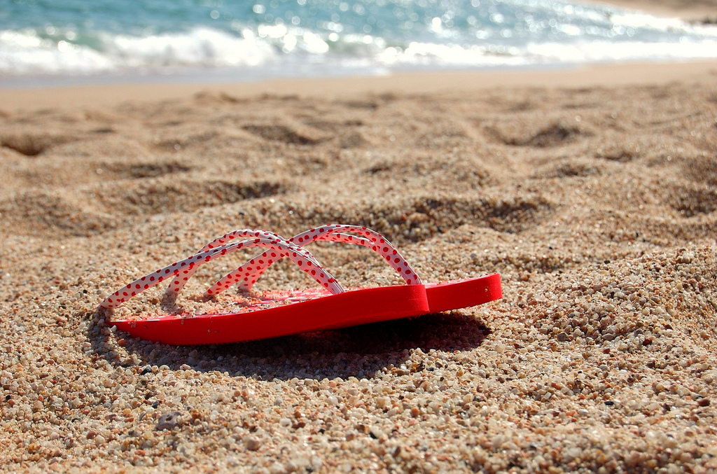 Flip-Flop burried on sand
