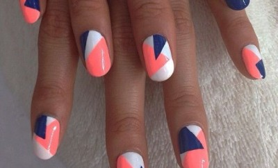 Bright geometric nails