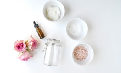 coconut oil sea salt and roses