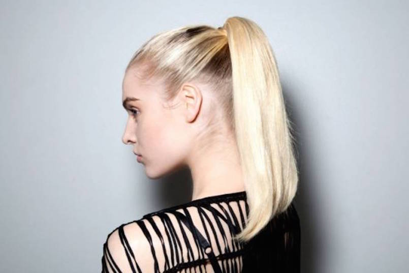 perky blonde ponytail