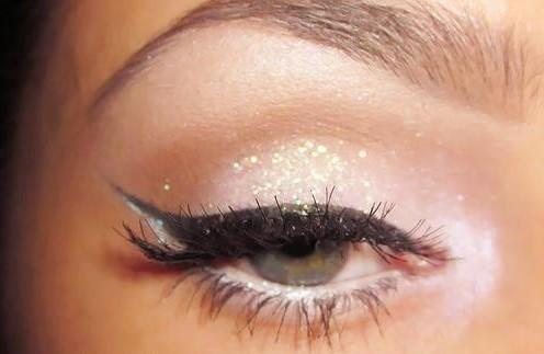 ballet pink shimmery makeup