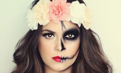 dia de los muertos skull candy makeup