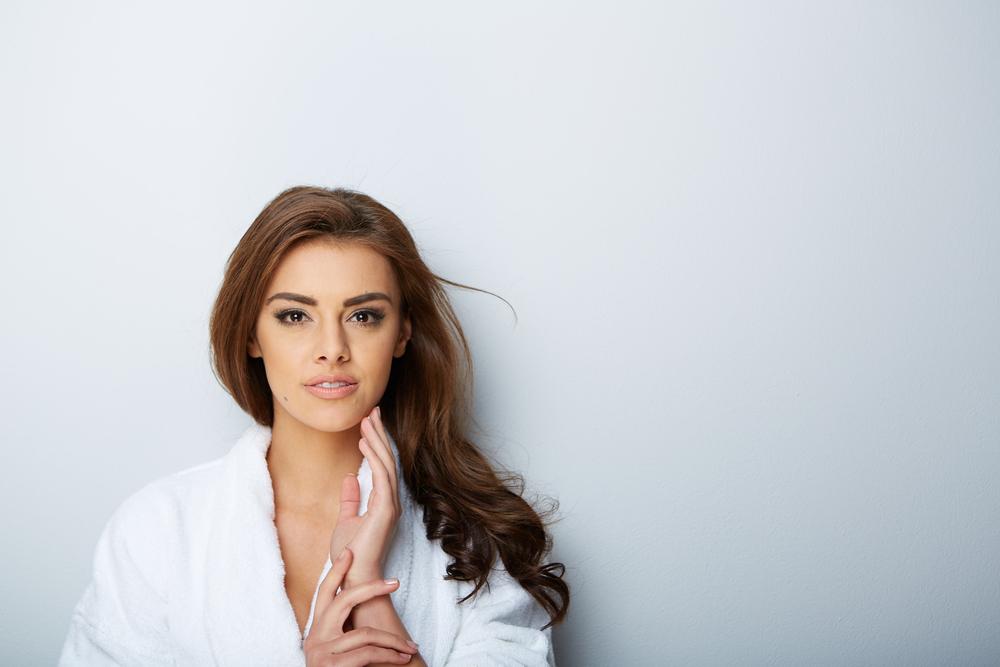 Derma Roller, picture of beautiful woman beautiful woman in spa salon