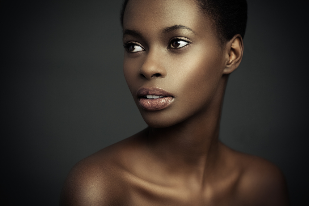 Beauty portrait of a sensual African woman