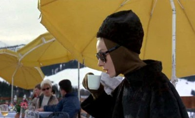 Audrey Hepburn skiing Charade