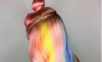 underlights rainbow hair