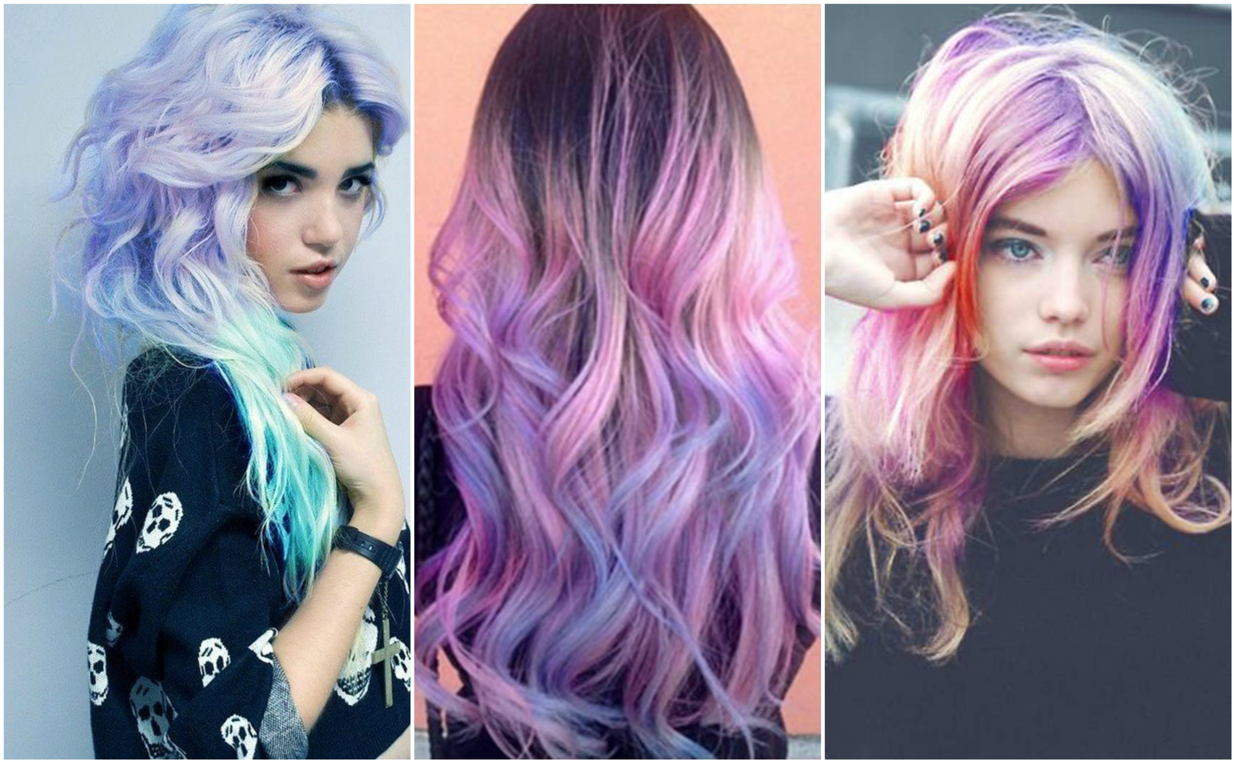 Get your glow on with the moonstone rainbow hair trend