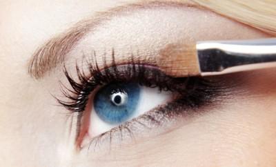 Close up photo of fashion eye makeup