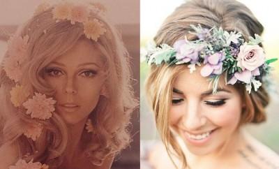 70s HAIR FLOWERS