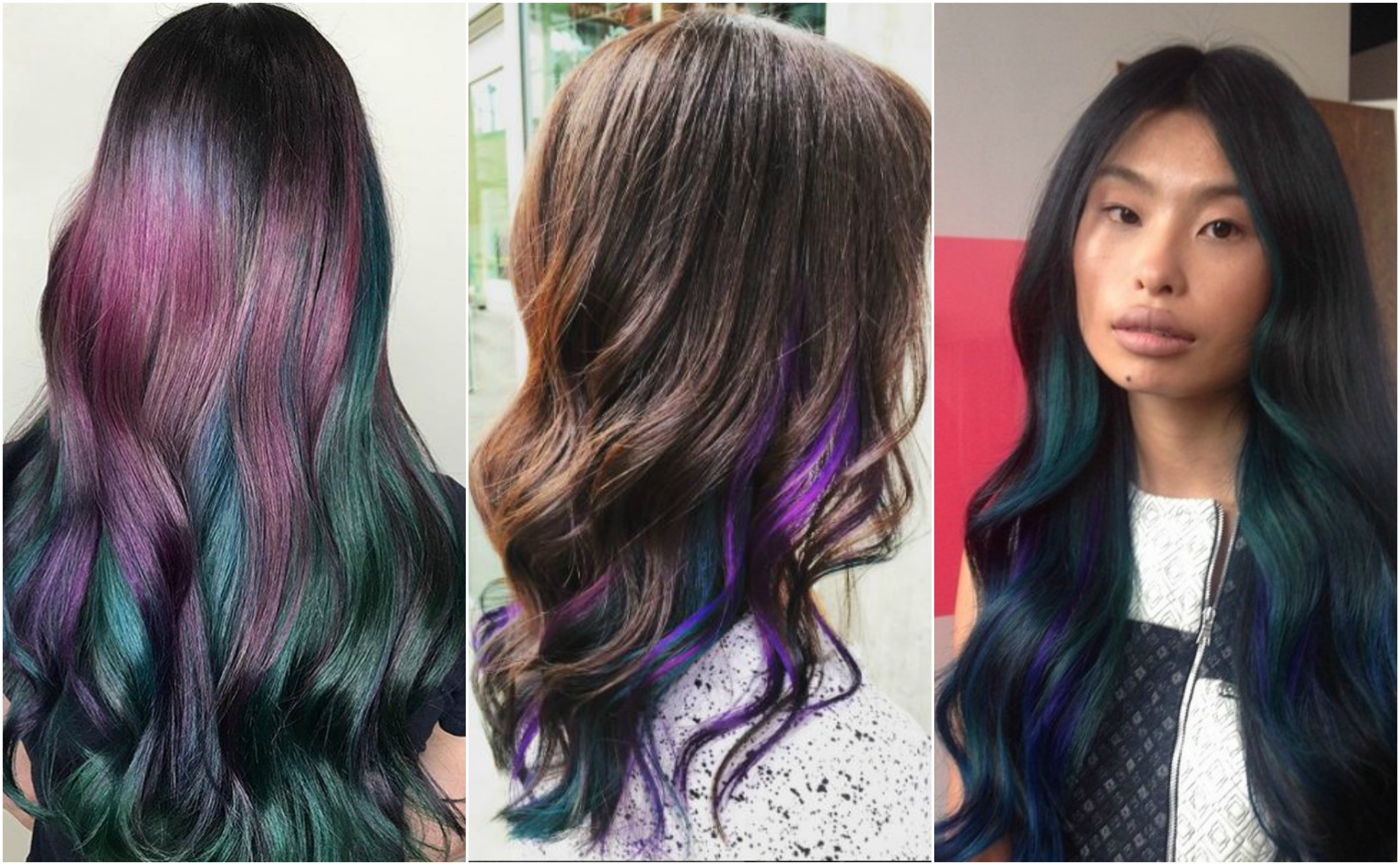 Oil slick hair is much cooler than it sounds