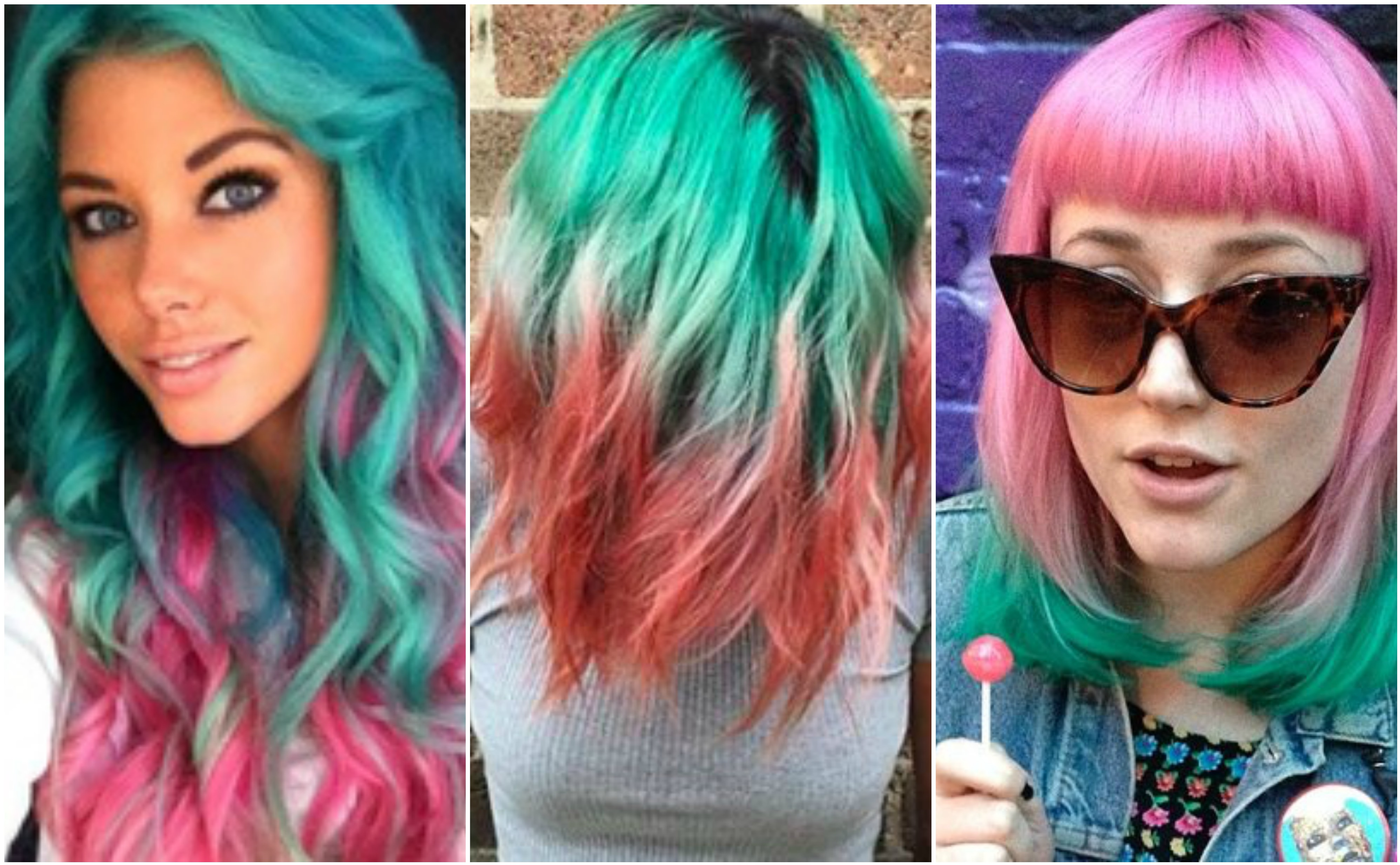 Hop on this juicy trend: Watermelon hair