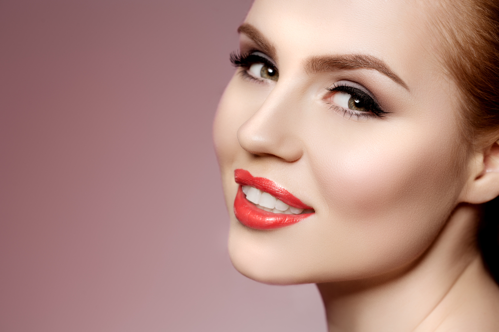 young modern girl in luxurious spa Lady make up