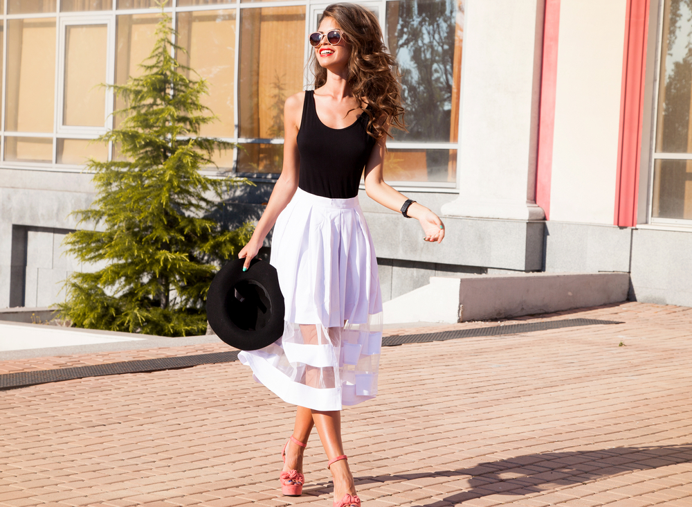 Midi skirts are all over Pinterest