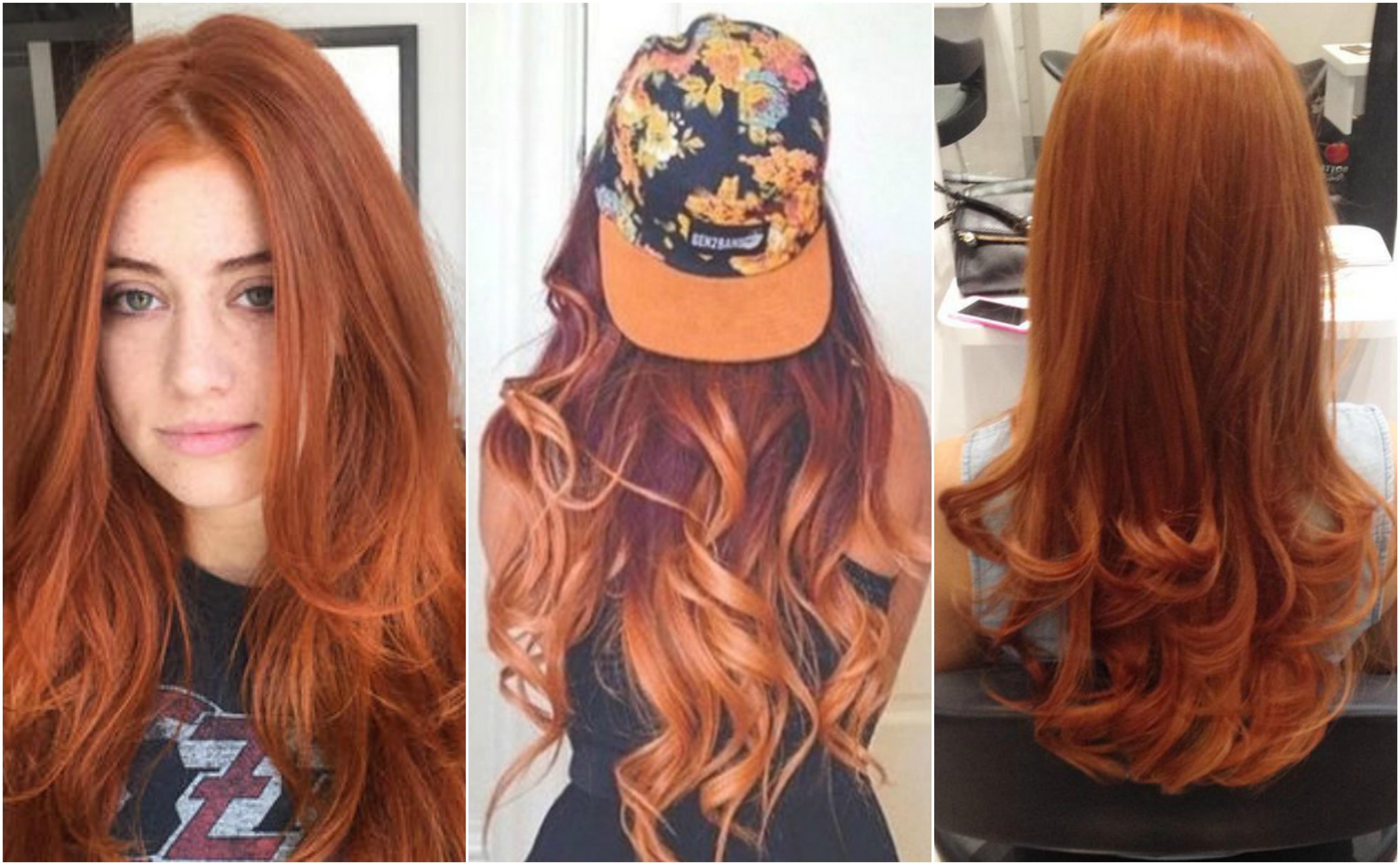 Dark red underneath brown hair