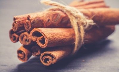 Bunch of cinnamon sticks. vintage photo