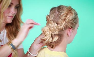 How to create the unique criss-cross braid bun