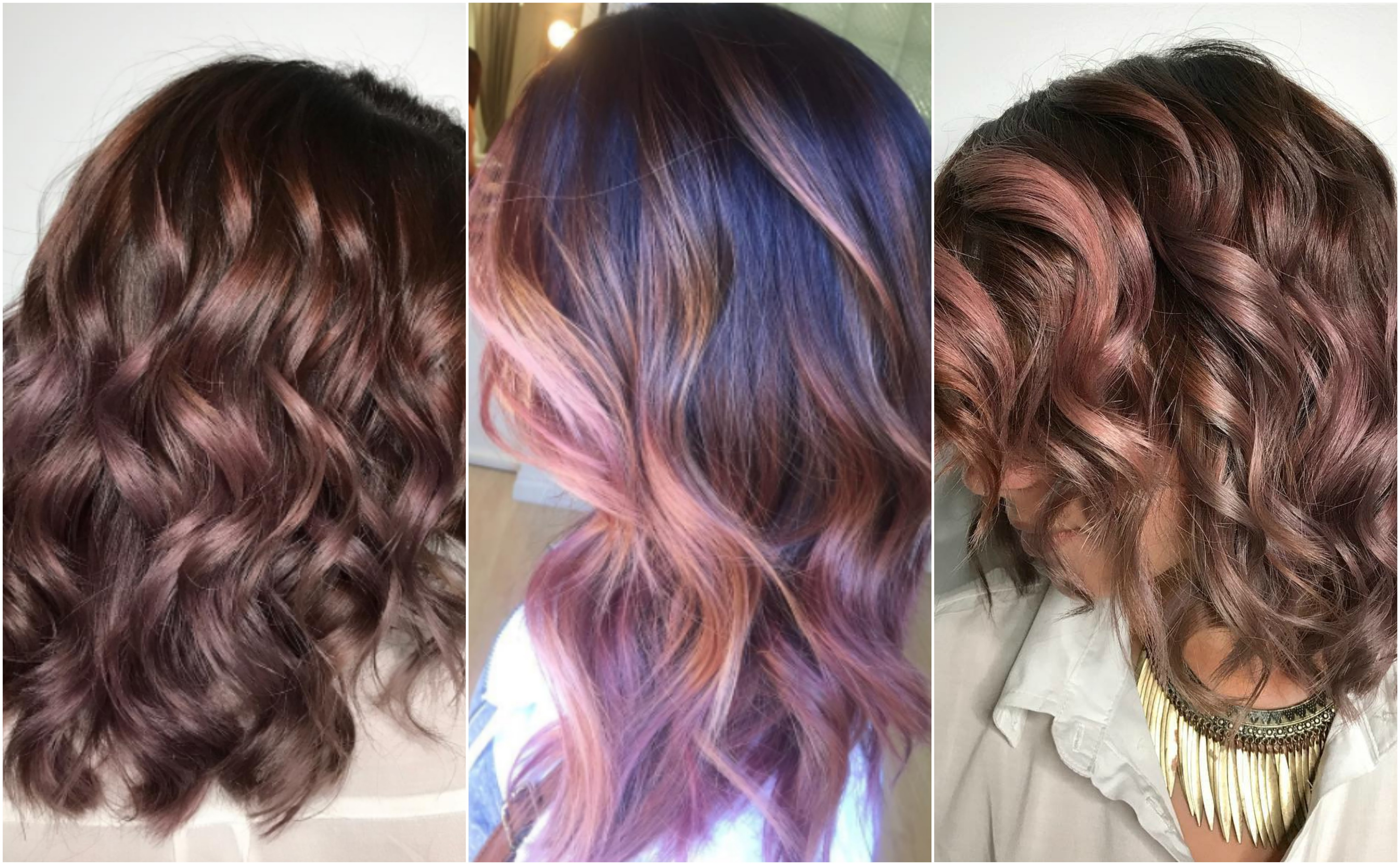 The latest (and delicious) chocolate-mauve hair trend is life