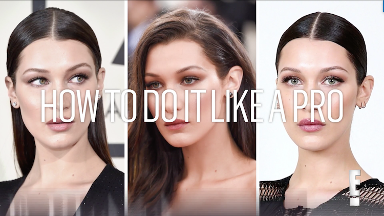 How to recreate Bella Hadid's forehead conturing