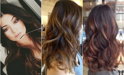 balayage highlights hair color curly wavy long beautiful