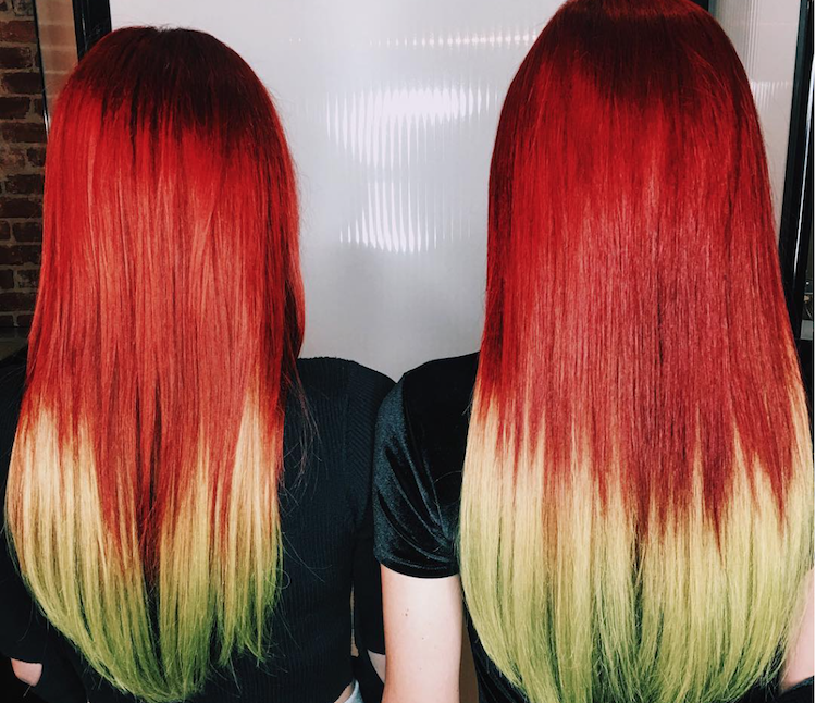 look christmas ready with these festive hair colors