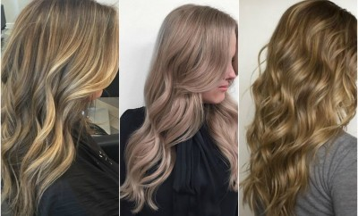 dark blonde wavy hair color