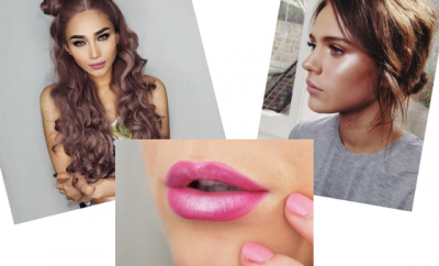 dewy makeup weekend looks ombre lips two buns
