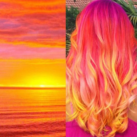 bright sunset hair