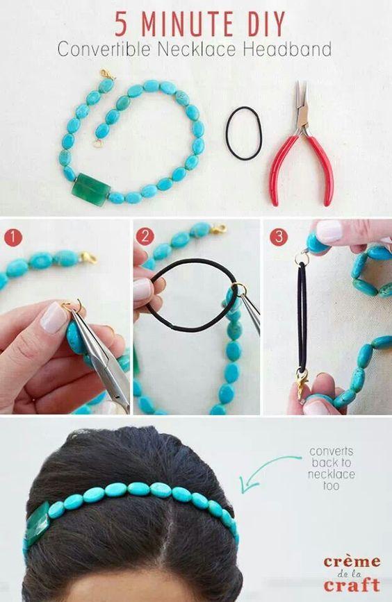 DIY bead handband
