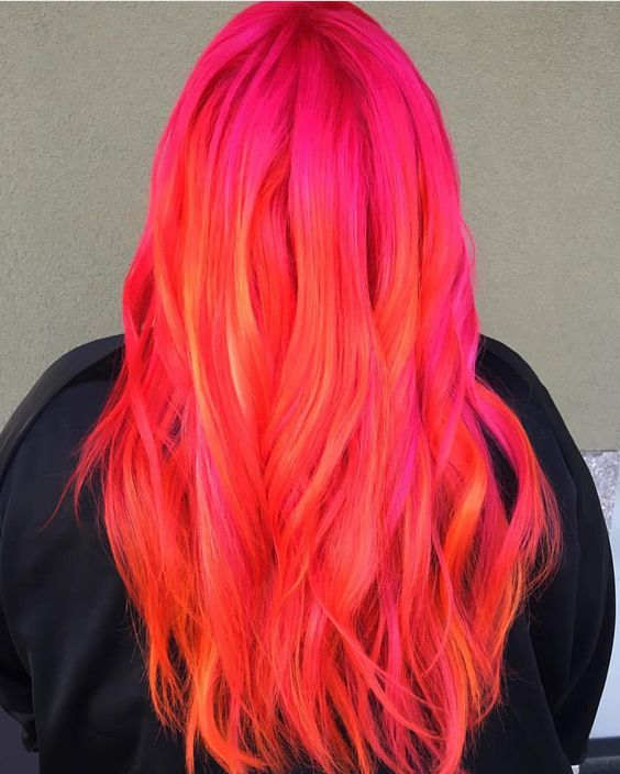 neon sunset hair