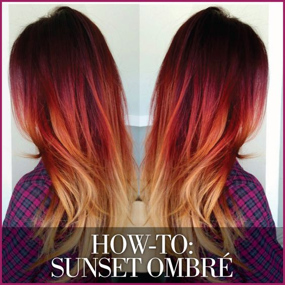 natural sunset ombre hair