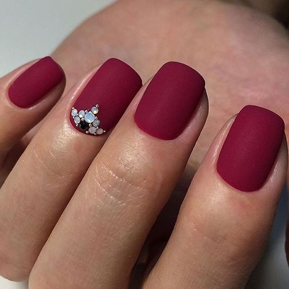 matte with bling accent