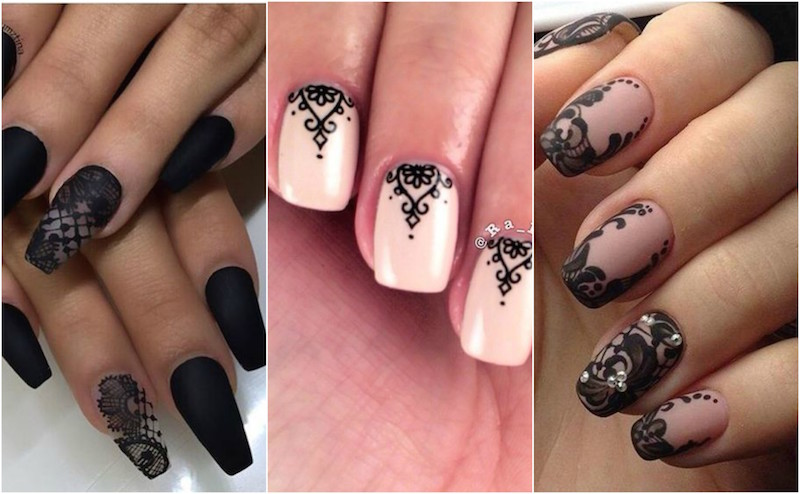 lace nails manicure