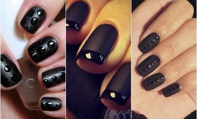 matte and glossy nail polish