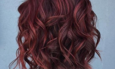 Base burgundy with cherry highlights