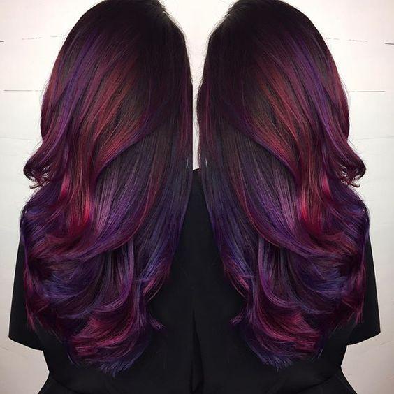 Rainbow burgundy