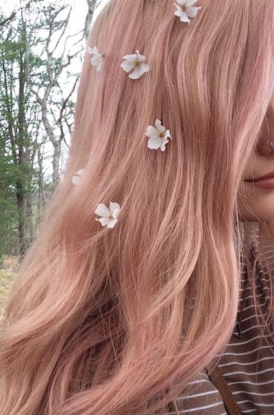 Pastel rose and blonde