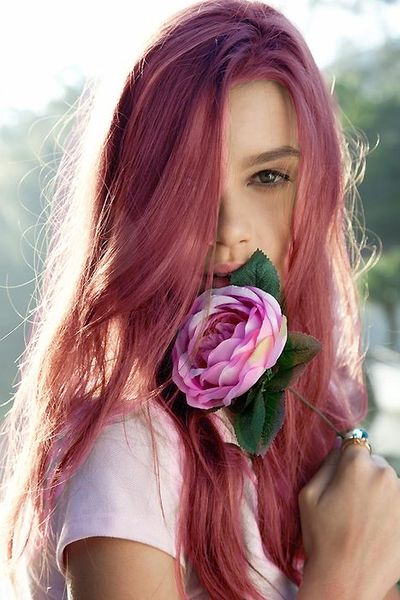 Bright color melt rose