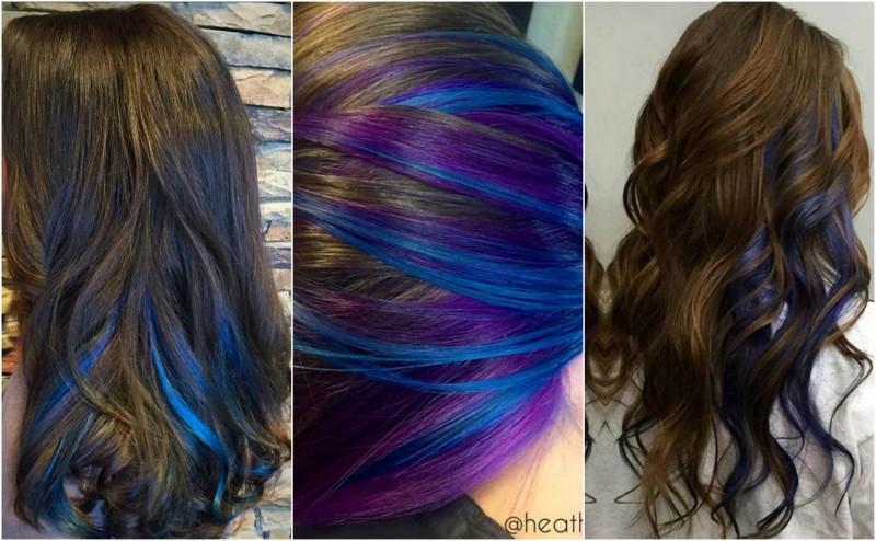 How to get peekaboo blue hair