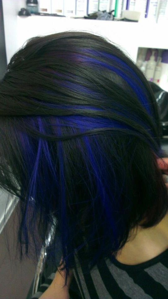 How to get peekaboo blue hair dark blue wispy highlights in black hair pmusecretfo Images