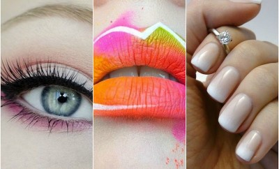 warm under glow eye shadow tie dye lips neutral ombre nails