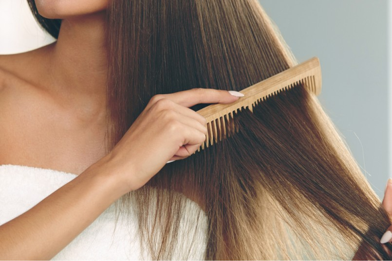 Image result for woman use comb