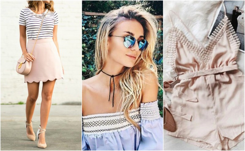 Weekend wardrobe Rompers, scalloped skirts and more