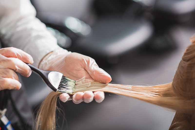 how to get hair dye off of skin