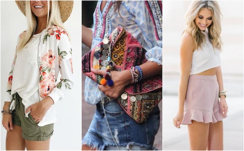 Weekend wardrobe: Camo, ruffled shorts and more