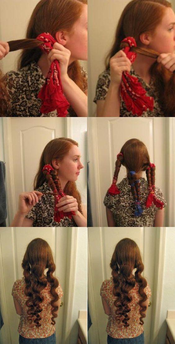 scarf curls