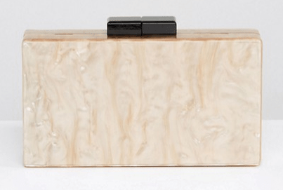 ASOS marble clutch