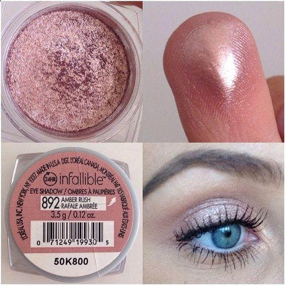 Loreal eyeshadow in amber rush