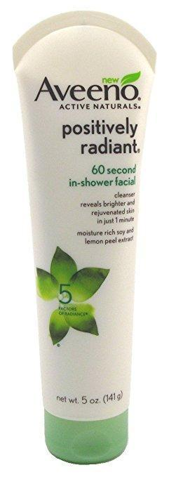 Positively Radiant 60 Second In-Shower Facial, Aveeno