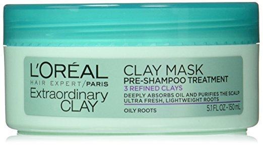 Extraordinary Clay Clay Mask Pre-Shampoo Treatment, L'Oreal Paris